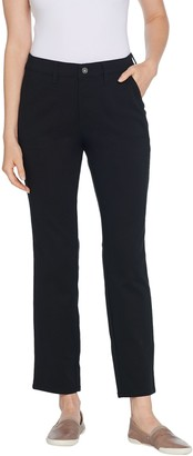 Denim & Co. Straight Double Weave Ankle Length Pant