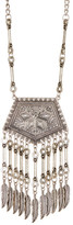 Stephan & Co Textured & Fringed Pendant Necklace