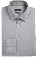 BOSS Sharp Fit Solid Dress Shirt