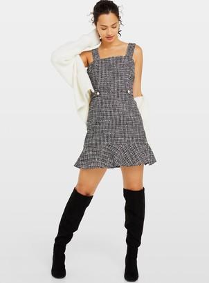 Miss Selfridge Monochrome Boucle Pinafore Dress