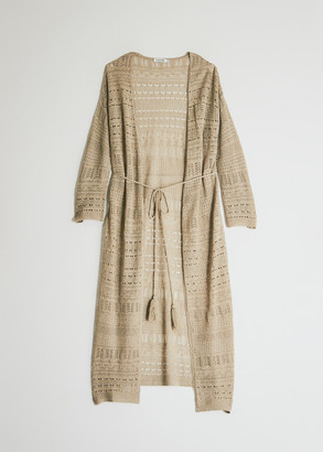 Farrow Women's Fanienne Long Cardigan Sweater in Gold, Size Extra Small