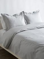 Melange Home Double Pleat Solid Cotton Duvet Set