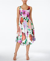 Calvin Klein Floral-Print Midi Fit & Flare Dress
