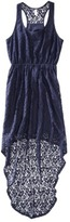 Xhilaration Juniors Lace Racerback High Low Dress - Assorted Colors