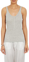 ATM Anthony Thomas Melillo Women's Henley Tank-GREY, LIGHT GREY