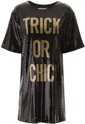 Moschino Trick Or Chic Sequined T-Shirt Dress