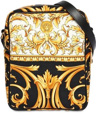 Versace Heritage Canvas Crossbody Bag