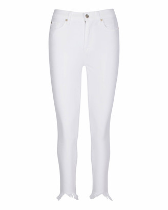 7 For All Mankind Gwenevere High Waist Ankle Skinny in White