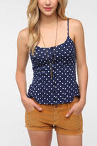Pins and Needles Polka Dot Peplum Cami