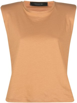 FEDERICA TOSI padded-shoulder T-shirt