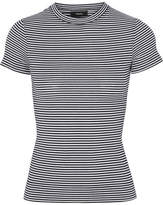 Theory Striped Cotton-jersey T-shirt - Black