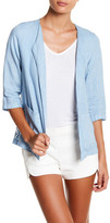 Luma Crochet Back Linen Jacket