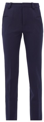 Roland Mouret Lacerta Tailored Crepe Trousers - Womens - Navy