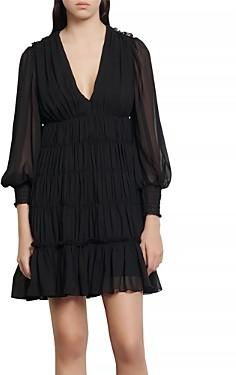 Sandro Dyane Ruched Mini Dress