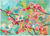 Oopsy Daisy Fine Art For Kids Cherry Blossom Birdies Multicolor Canvas Wall Art