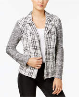 Style&Co. Style & Co Jacquard Moto Jacket, Created for Macy's