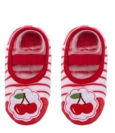 NWALKS Toddler and Little Girls Socks with Cherries Applique
