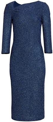 St. John Sequin Knit Sheath Dress
