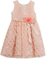 Rare Editions Sequin-Detail Soutache Special Occasion Dress, Little Girls (2-6X)