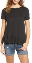 Hinge Women's Cross Back Ruffle Tee