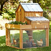 Williams-Sonoma Cedar Chicken Coop & Run with Planter