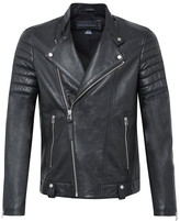 French Connection Bleeker Leather Biker Jacket