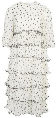 Ganni Ruffled dress