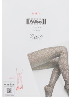 Wolford Reese Floral-lace Tights - Black