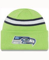 New Era Seattle Seahawks On-Field Color Rush Pom Knit