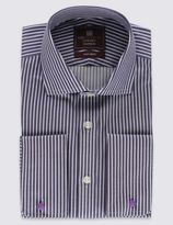 Marks and Spencer Pure Cotton Tailored Fit Striped Formal Shirt