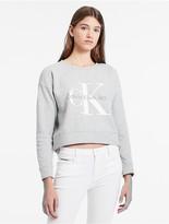 Calvin Klein Logo Cropped Sweatshirt