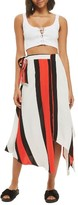 Topshop Women's Tango Stripe Midi Skirt
