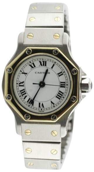 Cartier Ronde Santos Stainless Steel & 18K Yellow Gold 25mm Watch