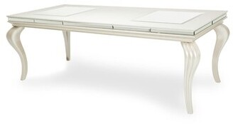 Michael Amini Hollywood Extendable Dining Table Finish: Pearl