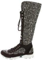 Chanel Tweed Sneaker Boots