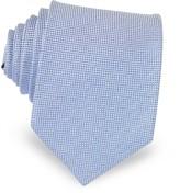 Forzieri Light Blue Woven Silk Tie