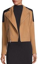Polo Ralph Lauren Wool & Cashmere Leather-Trim Bomber Jacket