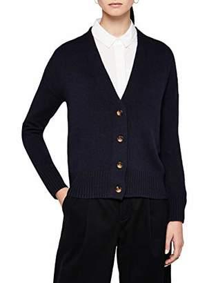 MERAKI Women's Boxy Fit Cotton Blend V-Neck Cardigan,X-Large