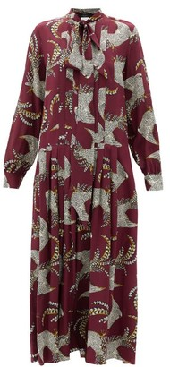Max Mara Zolfo Dress - Burgundy Multi
