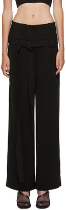 Dion Lee Black Interchange Belted Trousers