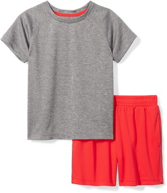 Spotted Zebra Little Boys' Active Short-Sleeve T-Shirt and Shorts Set