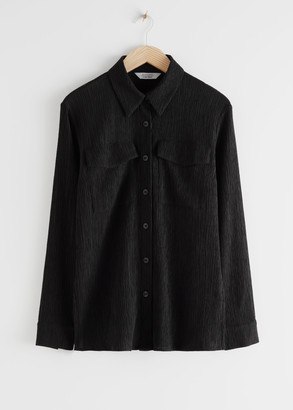 And other stories Fitted Lyocell Blend Shirt