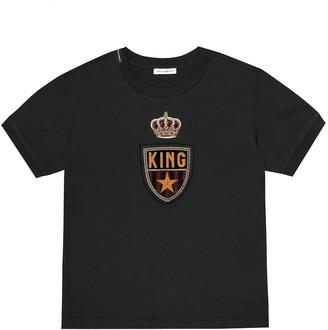 Dolce & Gabbana Kids Appliqued cotton T-shirt