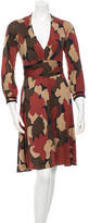Yigal Azrouel Printed Long Sleeve Dress