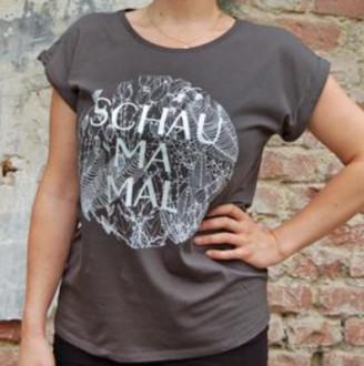 "Loretta Cosima - ""Schau ma mal"" T Shirt grey - small"