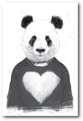 Courtside Market Wall Decor Lovely Panda Gallery-Wrapped Canvas Wall Art