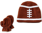 Starting Out Baby Boys Fleece Football Hat & Mittens Set