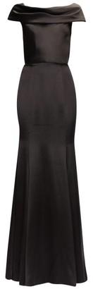 Dolce & Gabbana Cowl-neck Satin Gown - Womens - Black
