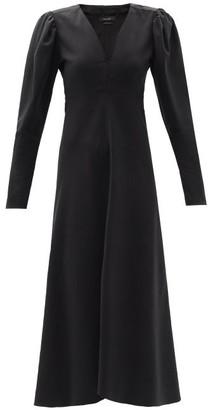 Isabel Marant - Silabi Puff-sleeve Crepe Midi Dress - Black