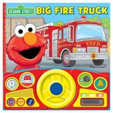 Sesame Street Big Fire Truck Steering Wheel Sound Book